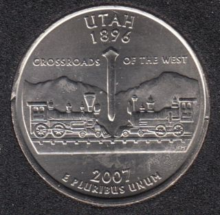 2007 P - Utah - 25 Cents