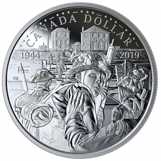 2019 - $1 - Proof Silver Dollar - The 75th Anniversary of D-Day