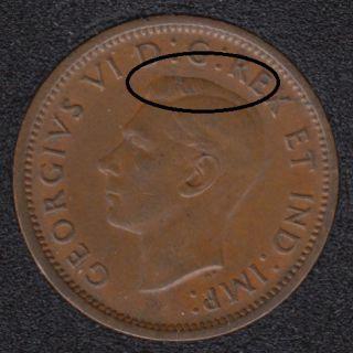 1940 - Break over Head - Canada Cent