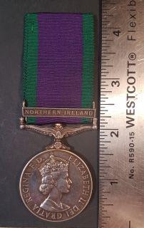 #1-244 Campaign Service Medal 1962 - Clasps NORTYERN IRELAND Elisabeth II