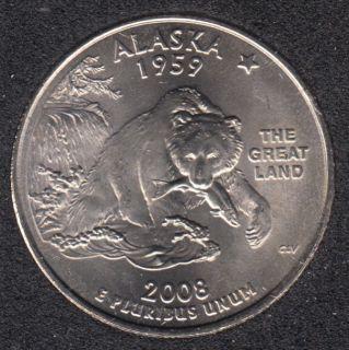 2008 P - Alaska - 25 Cents