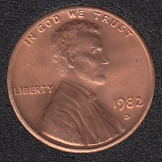 1982 D - B.Unc - Large Date - Lincoln Small Cent