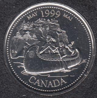 1999 - #5 B.Unc - Mai - Canada 25 Cents