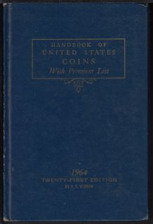 1964 - Handbook of United States Coins with Prenium List - Usagé