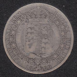 1889 - Half Crown - Grande Bretagne