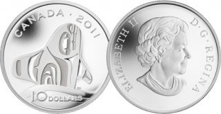 2011 - $10 - Fine Silver Coin - Orca Whale
