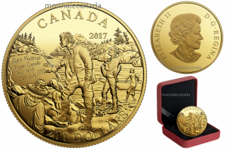 2017 - $200 - Pure Gold Coin - Great Canadian Explorers Series: Alexander Mackenzie