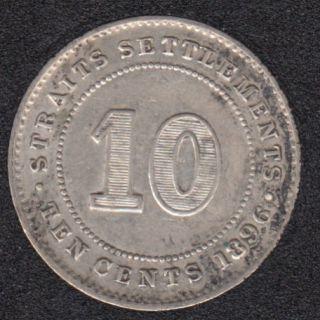 1896 - 10 Cents - EF - Straits Settlements