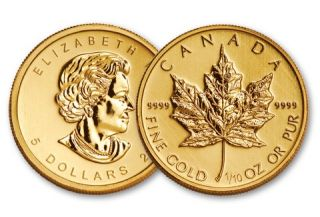 2014 1/10 oz Canadian Maple Leaf Gold Coin - No Tax
