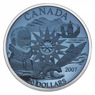 2007 - $20 -  International Polar Year -*Plasma*- Proof Silver