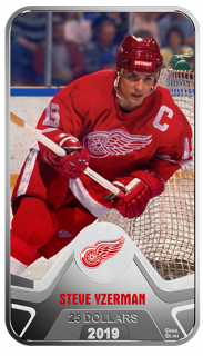 2019 - $25 - Pure Silver Coin - NHL® Original Six™: Detroit Red Wings®: Steve Yzerman