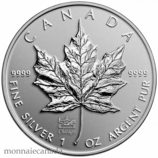 2014 - $5 - 1 oz. Fine Silver Coin with ANA Privy Mark - Silver Maple Leaf