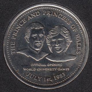 1983 - Edmonton Klondike - The Prince and Princess of Wales - Diana & Charles - $1