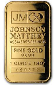 1 oz Johnson Matthey - Gold Wafer Bar - No Tax