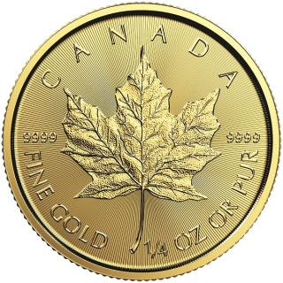 2017 - $10 - 1/4 oz Fine Gold 9999 - Gold Maple Leaf