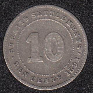 1891 - 10 Cents - Straits Settlements