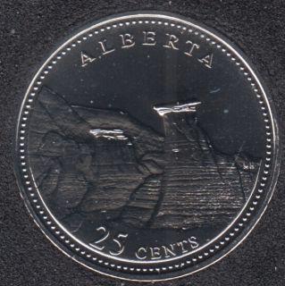 1992 - #6 NBU - Alberta - Canada 25 Cents