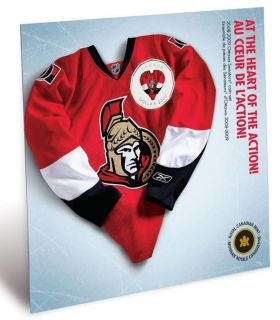 2008 2009 Ottawa Senators Coin set - $1 Dollar Coloured