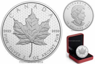 2017 - $10 - 2 oz. Pure Silver Coin – Canada 150 Iconic Maple Leaf