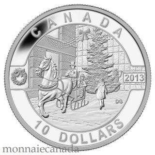 2013 - $10 - 1/2 oz. Fine Silver Coin - Holiday Season