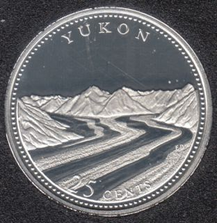 1992 - #5 Proof - Silver - Yukon - Canada 25 Cents