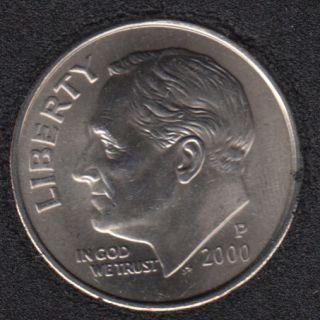 2000 P - Roosevelt - B.Unc - 10 Cents