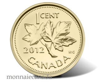 2012 - 1 Cent - 1/25 oz Fine Gold - Farewell to the Penny