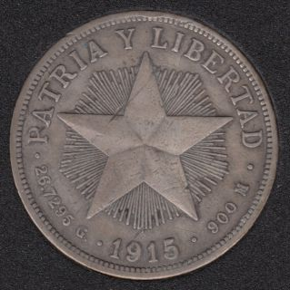 1915 - Un Peso - Cuba