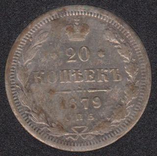 Russie - 1879 - 20 Kopek - Silver