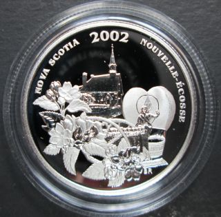 2002 Canada 50 Cents Sterling Silver - Annapolis Valley Blossom Festival - Nova Scotia