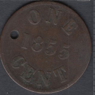 P.E.I. 1855 - Fisheries and Agriculture  - Holed - PE-6A1