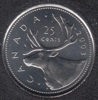 2003 P - B.Unc - OE - Canada 25 Cents