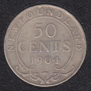 Terre Neuve - 1904 H - 50 Cents