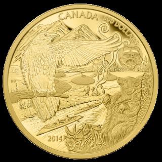 2014 - $500 - Pièce de 5 oz en or pur - La légende de l'Ours Esprit