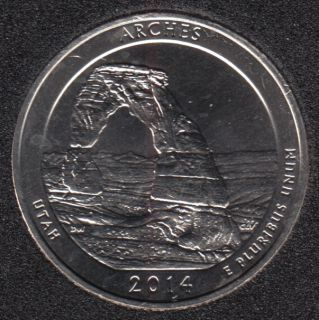 2014 S - Arches - 25 Cents