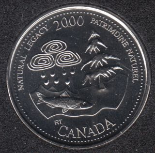 2000 - #5 NBU - Natural Legacy - Canada 25 Cents