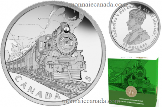 2015 - $20 - 1 oz. Fine Silver Coin - The Canadian Home Front: Transcontinental Railroad