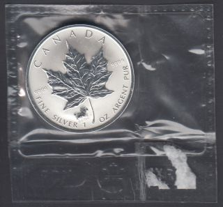 2002 Canada $5 Dollars Fine Silver - Privy Mark - Horse - 1 Oz - Flex Seal