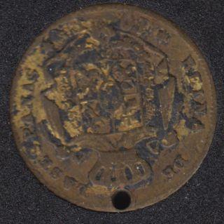 1868 - 10 Escudo Token - Spain