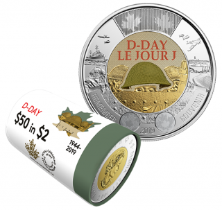2019 - $2 - Coloured $2 Special Wrap Roll: 75th Anniversary of D-Day