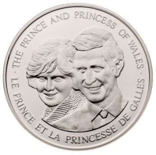 1983 - SILVER Canada Prince & Princess of Wales Medallion Medal - Diana & Charles