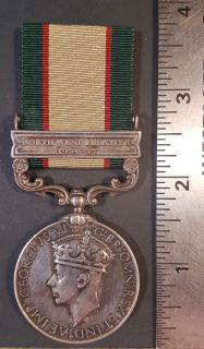 #254 India General Service 1936-1937 George VI - Clasps NORTH WEST FRONTIER 1936-37 Medal