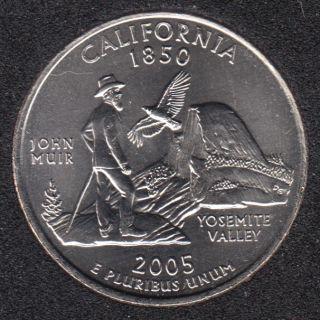 2005 D - B.Unc - California - 25 Cents