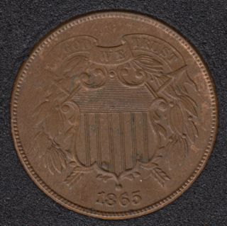 1865 - Shield - Brown Unc - Two Cents
