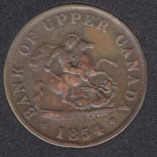 P.C. 1854 One Half Penny Bank Token - PC5C1