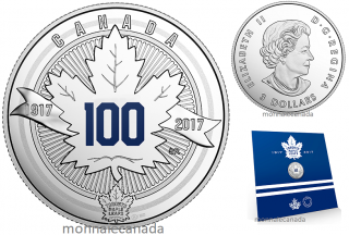 2017 - $3 - Pure Silver Coin - The Toronto Maple Leafs®: Anniversary Logo
