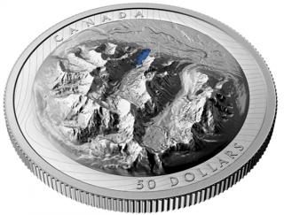 2021 - $50 - Pièce en argent pur au relief exceptionnel – Lac Louise