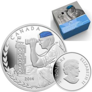 2014 - $20 - 1 oz. Fine Silver Coin - 50th Anniversary of Canadian Peacekeeping in Cyprus