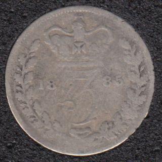 1885 - 3 Pence - Grande Bretagne
