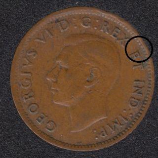 1946 - Break E to Rim - Canada Cent